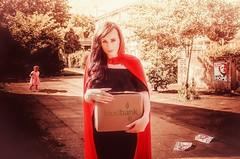 So Little Red Riding Hood was on the way back from the Foodbank ... (sophie_merlo) Tags: politics political poverty fairytale fairytales poor foodbank foodbanks breadline uk england britain conservatives conservative conservativeparty greed economy deprivation redridinghood primeminister davidcameron socialjustice society social urbanfairytale modernfairytale littleredridinghood injustice hope