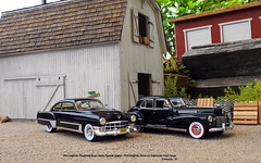 1941 Cadillac Fleetwood Series Sixty Special Sedan - 1949 Cadillac Series 62 Sedanette Club Coupe (JCarnutz) Tags: 124scale diecast resincast danburymint neoscalemodels 1941 1949 cadillac fleetwood seriessixty series62