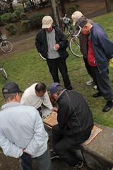 Old Men's Game (Toni Kaarttinen) Tags: japan  japonia    jap japonsko jaapan  japani japon xapn    japn jepang an tseapin giappone  japna japonija  japo  japonska japn hapon  japonya nht bn japanese kawasaki spring daishi park daishipark man game playing
