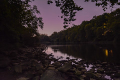 stoale_image4_landscape (samanthatoalephotography) Tags: landscape night dark stars purple sky outside nature water river rocks nightsky light outdoor