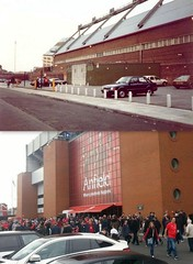 Kemlyn/Centenary, Anfield, 1989 and 2016 (Keithjones84) Tags: liverpool liverpoolfc anfield anfieldroad merseyside thenandnow kop lfc rephotography football stadium
