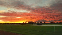 Mad sky over Warwick Racecourse... (Warwick Wolf) Tags: samsung s6 sunset warwickracecourse
