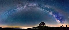 Milky Way over Carinthia (Austria) (FotografieTrippolt) Tags: travel holiday landscape night summer nikon stars panorama mountain long exposure panoramic alps amazing galaxy nightscape star austria carinthia milky way milkyway