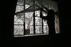 It was WINDY today.... (N A Y E E M) Tags: morning window silhouette curtain windy wife inlaws bangladesh chittagong shezin ashkardighirpar