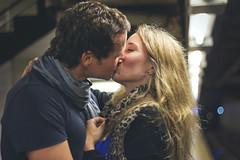 (Florencia Bianchi Granados) Tags: city people usa newyork love subway kiss couple amor subte beso nuevayork