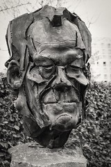 Bust of Willy Brandt (Lens Daemmi) Tags: sculpture berlin germany fuji skulptur bust finepix fujifilm brandt bste willy x10 tagderdeutscheneinheit