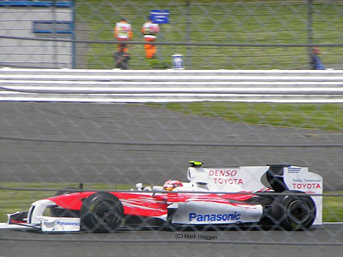 Timo Glock in his Toyota at the 2009 British Grand Prix