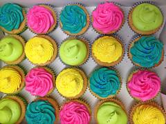 Super Bright 80s Cupcakes