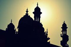Junagarh. (Gattam Pattam) Tags: sky sun bird flying minarets silhuett junagarh