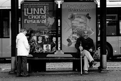 Den skarpa blicken (Anamaria D) Tags: lund blackwhite sweden streetphotography angrylook worldphotowalk lundphotowalk oldbeardyman