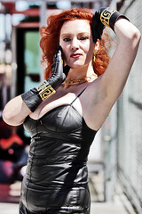 San Francisco Pride 2012 (Daluke) Tags: beauty leather fashion model parade redhead vogue gloves lgbt sanfranciscopride leathergloves goddessathena