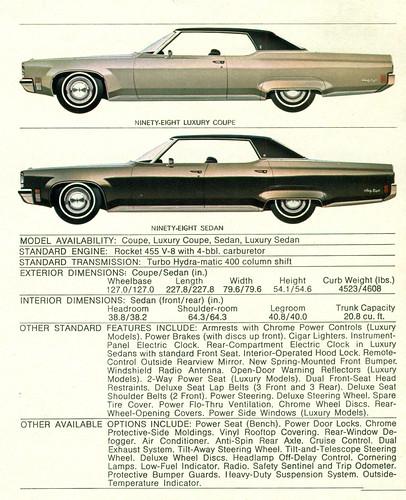 1972 Oldsmobile Ninety Eight Coupe and 4 Door LS 4 Door Hardtop