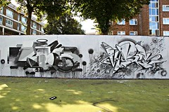 Roid & Vibes (STEAM156) Tags: uk streetart london art graffiti travels photos artists walls msk ha vibes rt represent roid stockwell madsocietykings heavyartillery steam156 wwwlondongraffititourscom