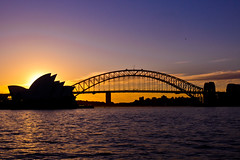Classic Sydney Shot (Nuxis [Davide]) Tags: city sunset sea tourism sony sydney australia nsw newsouthwales operahouse harbourbridge a77