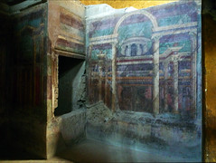 Villa of the Mysteries, architectural fresco