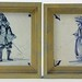 186. Two Antique Delft Style Wall Plaques