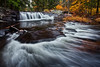 Little Unnamed Waterfall in Vermont (chris lazzery) Tags: waterfall vermont fallfoliage groton canonef1740mmf4l bwcircularpolarizer 5dmarkii
