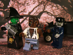 Who's Your Daddy? (Doctor Beef) Tags: toy lego witch zombie wolfman minifigures zombiebaby