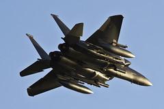 Mcdonnel Douglas F15E Strike Eagle (Mark Rourke) Tags: suffolk dusk 06 runway06 f15eagle lakenheath f15e fighterbomber runwaylights raflakenheath 494thfs 492ndfs 48thfw 48thfighterwing 492ndfightersquadron 494thfightersquadron mcdonneldouglasf15estrikeeagle