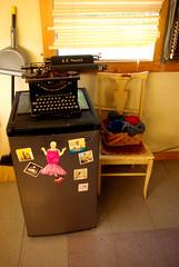 Typewriter, wool and fridge (sardinista) Tags: california ca boy usa naughty scott evening october potter jim vineyards valley mendocino 2012 ukiah nbv emjay