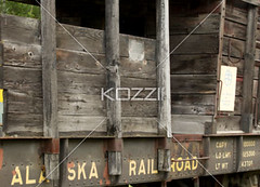 wooden rail car (jenntrans8877) Tags: wood old railroad classic abandoned alaska museum train vintage wooden ancient antique railcar transportation traincar weathered trainyard outdated scarp