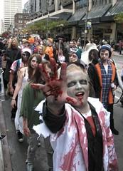 zombies on parade (Mr.  Mark) Tags: toronto celebrity halloween beautiful photo costume scary funny downtown zombie walk famous crowd stock makeup parade creepy eat gross brains ugly crawl 2012 torontozombiewalk markboucher