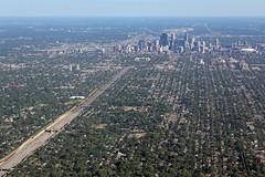 Minneapolis and I-35W (MSPdude) Tags: bus station minnesota skyline skyscraper canon minneapolis aerial freeway wellsfargo brt ids metrodome capella i35w t2i