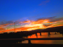 The Tennessee #River, #Chattanooga #Tennessee - h2016 (SouthernBreeze) Tags: trip travel bridge family blue autumn friends light sunset red sky orange usa color reflection art fall chattanooga water river t geotagged fun photography photo raw unitedstates tn pentax photos tennessee picture photograph optio blaze gps geotag cha nightfall 2012 mbp blazing southernbreeze cs5 wg1 t214