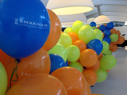 Heliumballonnen Bedrukt van Nelle Fabriek Rotterdam