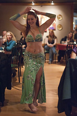 9th New(er) Dancer Night at the Med Hookah 10 18 12 - Bridget (Drumdude Bill) Tags: beautiful redhead bridget bellydance madisonwisconsin rida nikond700 nikkor50mmf14g mediterraneanhookahloungeandcafe doumtekphotography