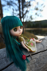 The sun is setting, heart is content... (jessi.bryan) Tags: trip sunset vacation doll pam yellowstonenationalpark yellowstone blythe wyoming anniversarydoll wingsinflight princessalamode
