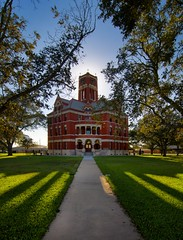 Lee County Courthouse (Tom Haymes) Tags: texas victorian courthouse backlit victorianarchitecture giddings texascourthouse leecountycourthouse giddingstexas brickcourthouse leecountycountytexas leecountytexascourthouse