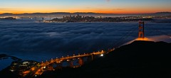 Dawn over San Francisco Bay (tzargregory) Tags: fog sunrise dawn foggy goldengatebridge marinheadlands ggnra ggb goldengatenationalrecreationarea slackerhill slackerhilldawn