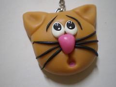 Chaveiro Gtinho (2) (Kelly arte e costura) Tags: artesanato biscuit trabalhosmanuais lembrancinhas chaveiros porcelanafria