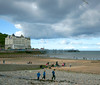 Llandudno the Grand Hotel and the pier. (Minoltakid) Tags: old people building beach birds wales clouds buildings fun coast pier town seaside conway oldbuildings llandudno oldbuilding 2012 grandhotel northwales welshcoast welshheritage llandudnopier welshseaside minoltakid theminoltakid