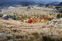 Radiša Živković  - Falcons territory (Radisa Zivkovic) Tags: autumn trees red mountains fall rural landscape countryside scenery europe colours fuji serbia roads srbija djake kursumlija selodjake