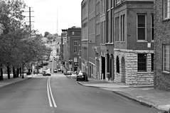 1st Ave looking South (Paul Nicholson) Tags: road street city urban blackandwhite bw white black building cars monochrome skyline architecture buildings grey downtown cityscape tn nashville metro tennessee gray grayscale greyscale bna
