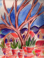 ARIZONA ON MY MIND (roberthuffstutter) Tags: style expressionism impressionism huffstutter watercolorsbyhuffstutter artmarketusa