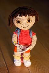 dora with map (Sheila Amigurumi) Tags: doll handmade crafts crochet amigurumi