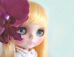 Lovely girl, lovely flower