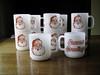 Glasbake Santa/Season's Greetings Mugs (VintageEverAfter) Tags: santa christmas red mugs seasons greetings glasbake