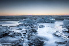 Cold Blue Ice II (Kristinn R.) Tags: sea sky ice beach blacksand iceland nikon jkulsrln d3x nikonphotography breiamerkursandur kristinnr