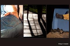 Siesta (olga sin nick) Tags: sol collage nap sombra silla patas pies mano siesta tres triptico suelo pata trilogia trilogias