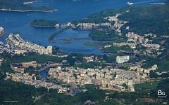 Top View of Sai Kung :: Kowloon Peak (bgfotologue) Tags: sunset hk mountain radio plane landscape hongkong east  kowloon peninsula    saikung     feingoshan