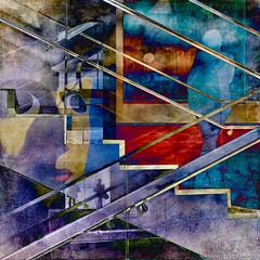 New York City - MOMA (GAPHIKER) Tags: nyc newyorkcity color art texture lines stairs no slide moma hss artdigital trolled dedominicis ginodedominicis awardtree happyslidersunday lenebemanna