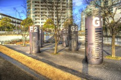 Portside Park Silos (shinnygogo) Tags: japan landscape jan nopeople silos freehand yokohama  hdr      3x  photomatix 2013