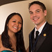 Navajo Nation Washington Office Staffers Erica Guy and Brian Quint. Navajo Nation Inaugural Reception. Jan. 20, 2013. Photo by Missy Janes.