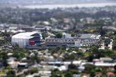 Mt Eden view of Eden Park (dan-ish) Tags: city volcano miniature model view small auckland nz eden tilt mteden tiltshift