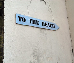 To the Beach, Whitecross (Catherine Jackson Photography) Tags: blue london arrow whitecross wallsign tothebeach