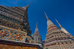 Wat Pho #4 (thai-on) Tags: sky architecture thailand temple nikon bangkok religion culture d3 chedi rattanakosin totallythailand